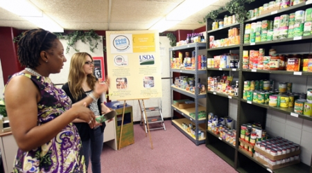 AREA'S FIRST SCHOOL PANTRY: Partnership with food bank expands college's outreach to students