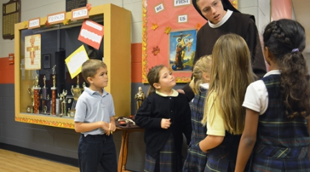 Young nun focuses on education, witnessing to religious life