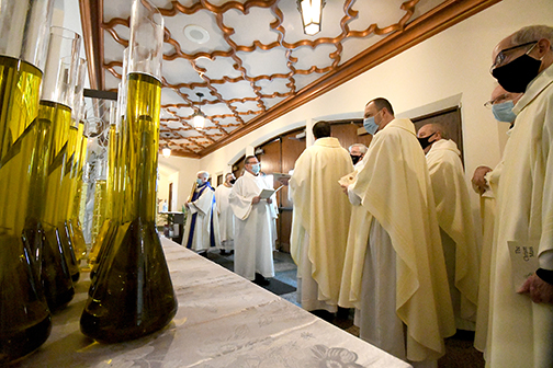 Priests renew promises and oils are blessed at Chrism Mass
