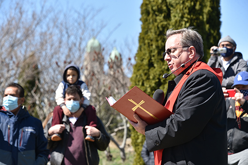 Bishop leads faithful through the Passion of Christ