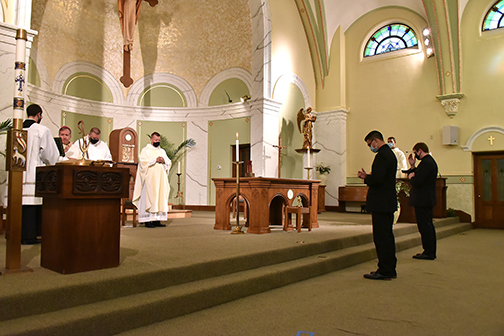 Seminarians formally declare to bishop their call to priesthood