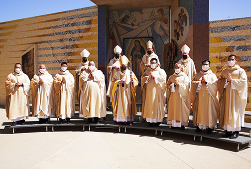Eight L.A. priests ordained in 'historic' liturgy pushed outdoors by pandemic